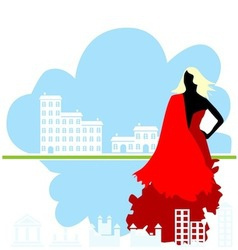 real estate girl vector image
