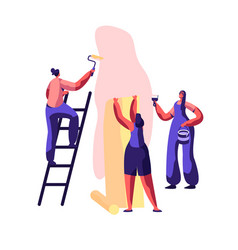 repair service professional worker for renovation vector image