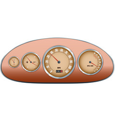 Retro car dashboard vector image