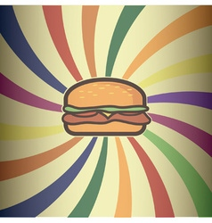 Retro hamburger design vector image