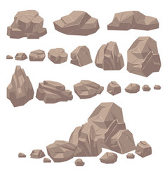 rock stone isometric rocks and stones geological vector image