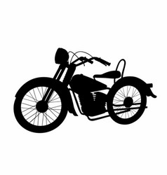 Shadow motorcycle vector