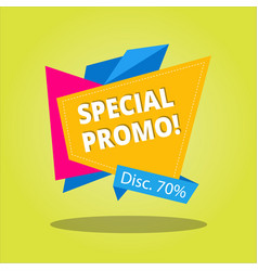 Special promotion design vector