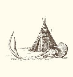 stone age caveman or troglodyte vector image