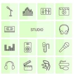 Studio icons vector
