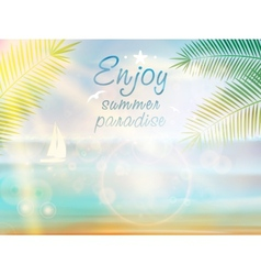 Summer Poster Design with Typography vector image