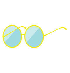 sunglasses hand drawn design on white background vector image