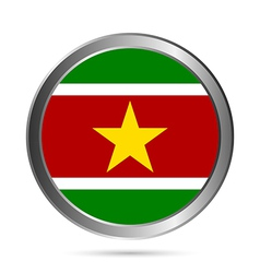 Suriname flag button vector
