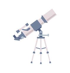 Telescope astronomer equipment for explore and vector