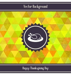 Thanksgiving Day Triangles Background vector