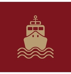 The ship icon Travel symbol Flat vector image
