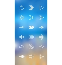 Thin icons design set Arrows Moder simple vector