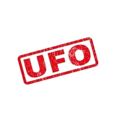 UFO Rubber Stamp vector