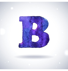 Watercolor letter B vector image