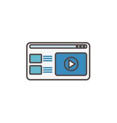Website video player social media icon vector