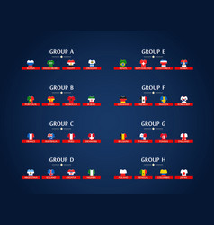 World soccer championship groups football vector