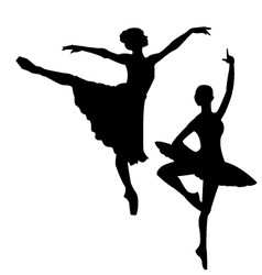Ballet sihlouettes vector image vector image