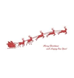 christmas red reindeer vector image vector image
