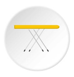 Ironing board icon circle vector