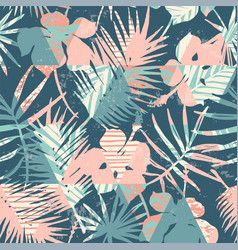 seamless exotic pattern with tropical plants and vector image vector image