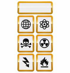 set of danger icons vector image