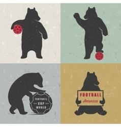 Set Sign Fun Bears vector image vector image