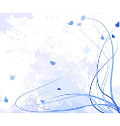 abstract flower violet vector image vector image
