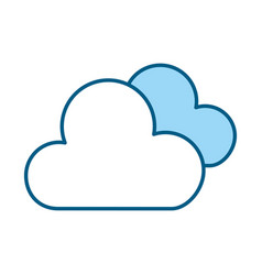 blue clouds cartoon vector image