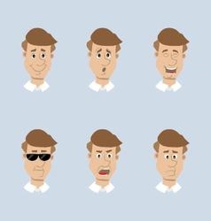 head mens set of icons vector image vector image