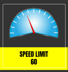 speed limit sign use for transport vector image