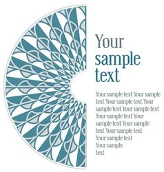vintage design blue pattern vector image vector image