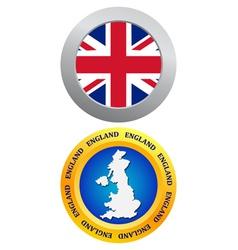 button as a symbol of England vector image