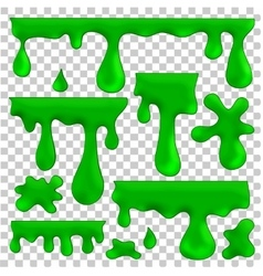 green blots splashes and smudges vector image