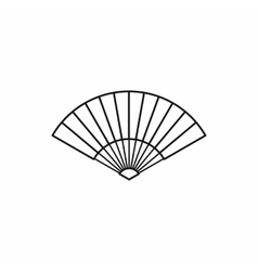 Japanese fan icon outline style vector