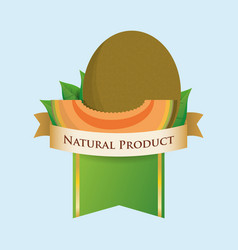 melon natural product label vector image vector image