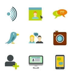 Message icons set flat style vector image