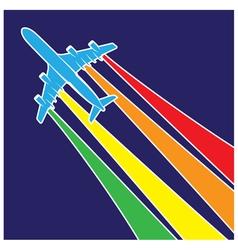 plane symbol colorful vector image