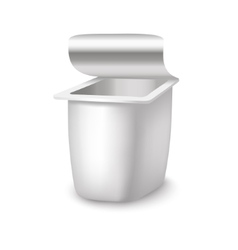 Template White Blank Yoghurt Container vector image
