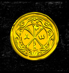 ancient christian symbol of jesus christ vector image vector image