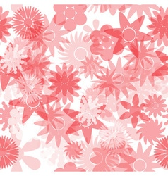 Seamless red water colours simple floral pattern vector