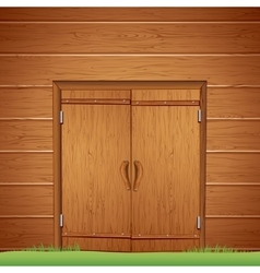 Wooden Barn Door Image vector image
