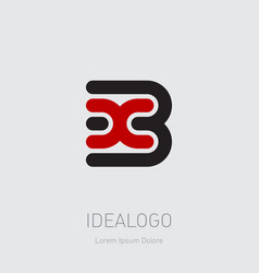 3 and x initial logo 3x initial monogram logotype vector image