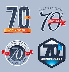 70 Years Anniversary Logo vector