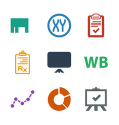 9 marketing icons vector