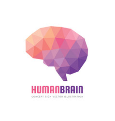 abstract human brain - business logo vector image