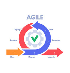 agile development process infographic software vector image