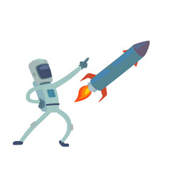 astronaut in space character having fun vector image