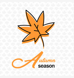 autumn season maple leaves maple background vector image