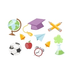 Back to school symbols vector image