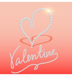 background with heart made of pearls vector image